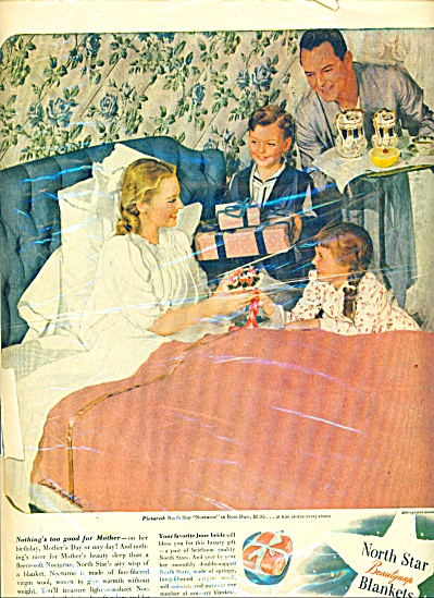 1946 North Star Blanket AD MOM BREAKFAST BED (Image1)