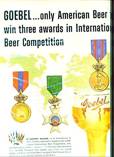 Goebel Beer  ad - 1953 (Image1)