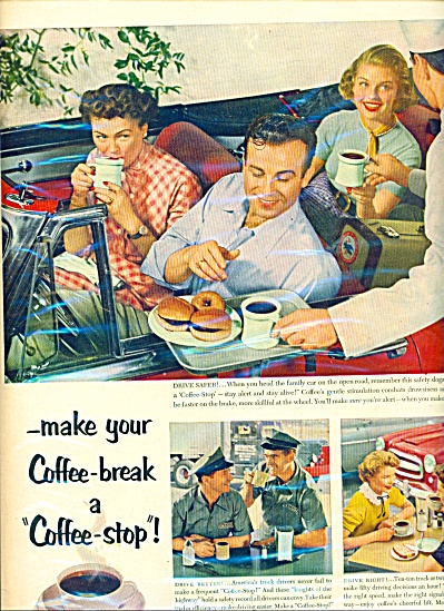 Coffee break -coffee stop ad     1953 (Image1)