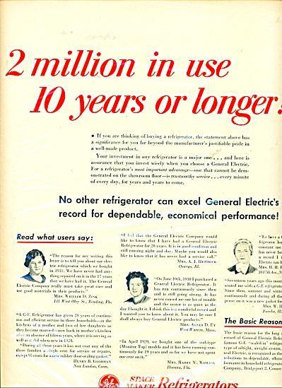 General electric refrigerators ad   1949 (Image1)