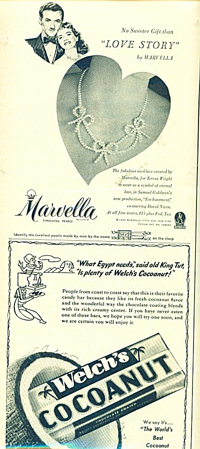 Welch's Cocoanut candy ad - 1949 (Image1)