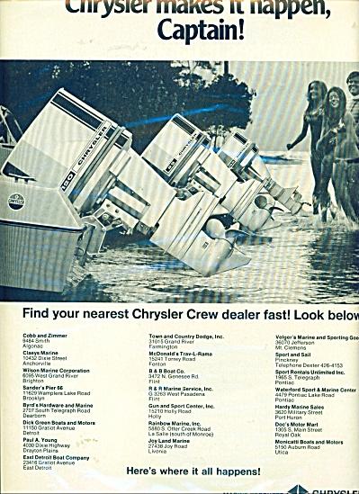 Chrysler Corporation  marine products ad (Image1)