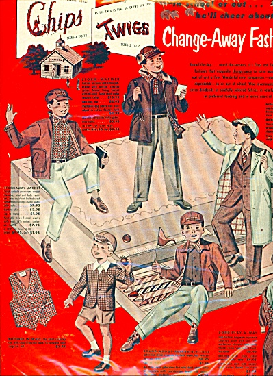 Vintage BOYS Change away fashions ad Schwartz (Image1)