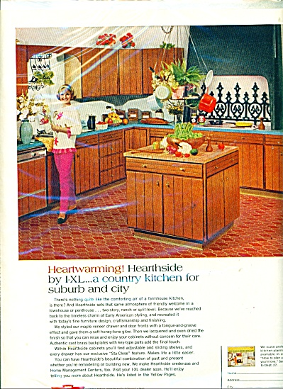 1968 The I-XL IXL furniture Co AD - Country Vtg Kitchen (Image1)
