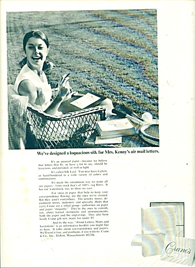 1968 Crane Paper MRS. KENNY Air Mail AD (Image1)