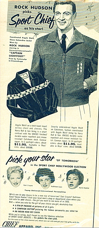 Chief Apparel (Rock Hudson) ad (Image1)