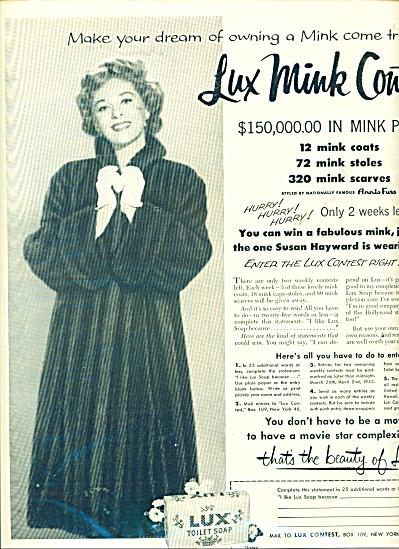 Lux Toilet soap ad (Susan Hayward) (Image1)