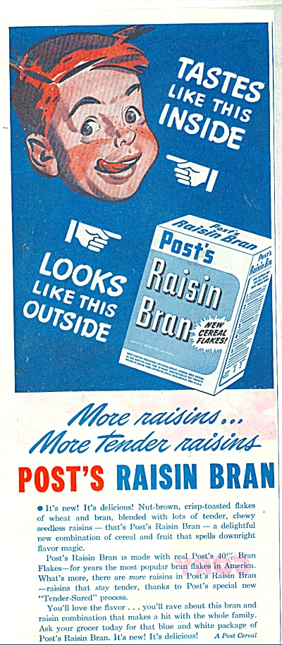 Post's Raisin Bran ad - 1945 (Image1)