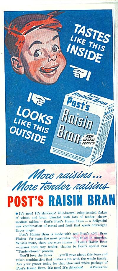 Post's Raisin Bran ad - 1945 (Image1)