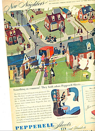 Pepperell sheets ad    1946 RIC HOWARD ART (Image1)