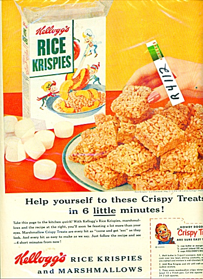 Kellogg's Rice Krispies Ad - 1954