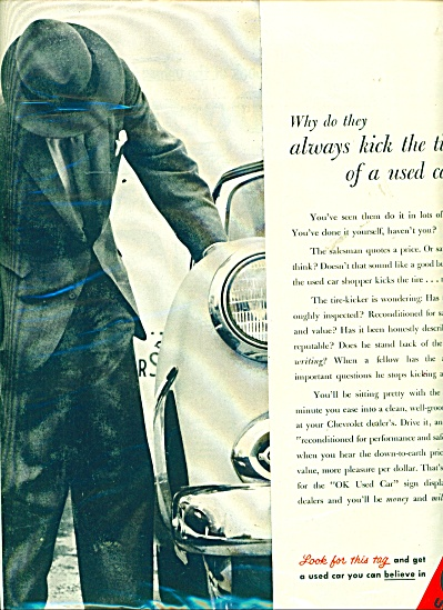 1955 Chevy Chevrolet  OK Used Car auto Print AD (Image1)