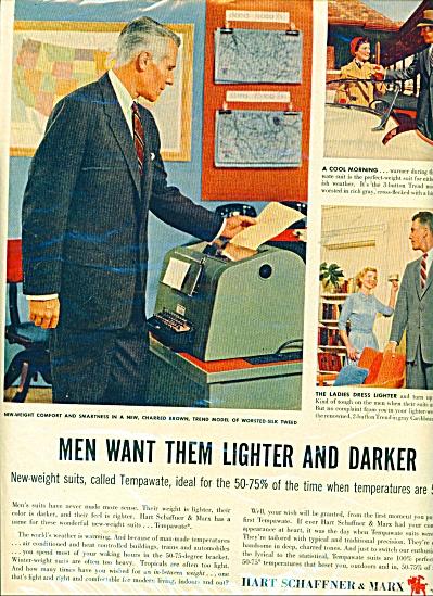 Hart Schaffner & Marx Vintage Men's SUITS AD (Image1)