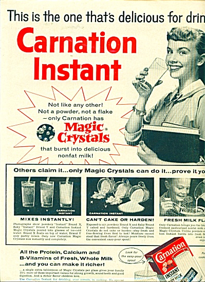 Carnation instant nonfat dry milk ad (Image1)