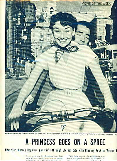 Audrey Hepburn goes for a ride (Image1)