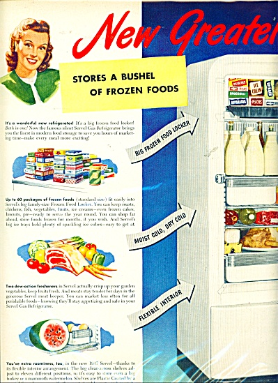 1947 Servel, the gas refrigerator AD (Image1)