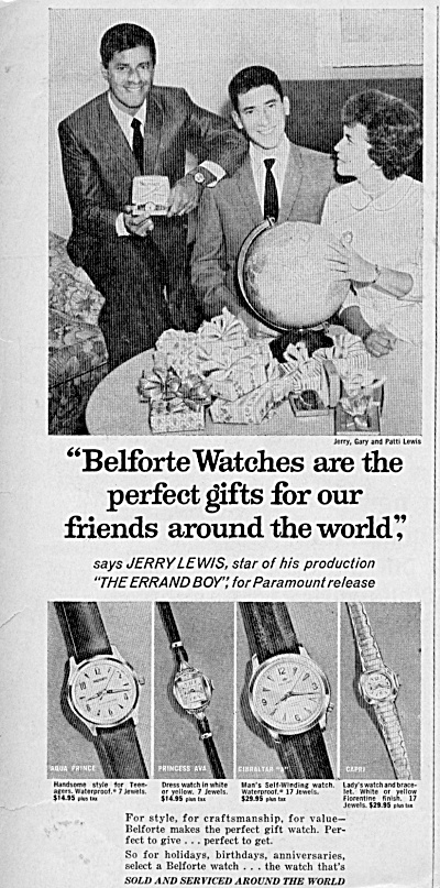 1961 JERRY LEWIS Actor w Family Belforte watches AD (Image1)