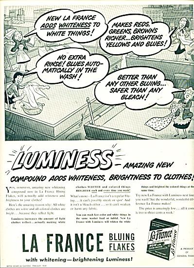 La France Bluing flakes ad - 1949 (Image1)