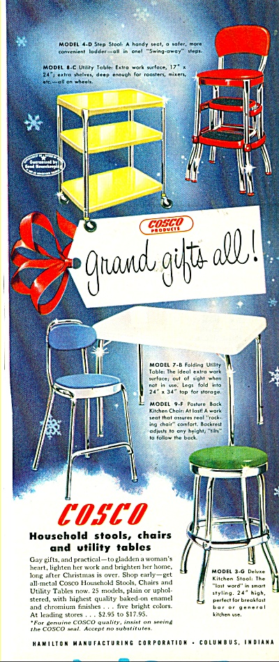 Cosco household stools, chairs ad  1949 (Image1)