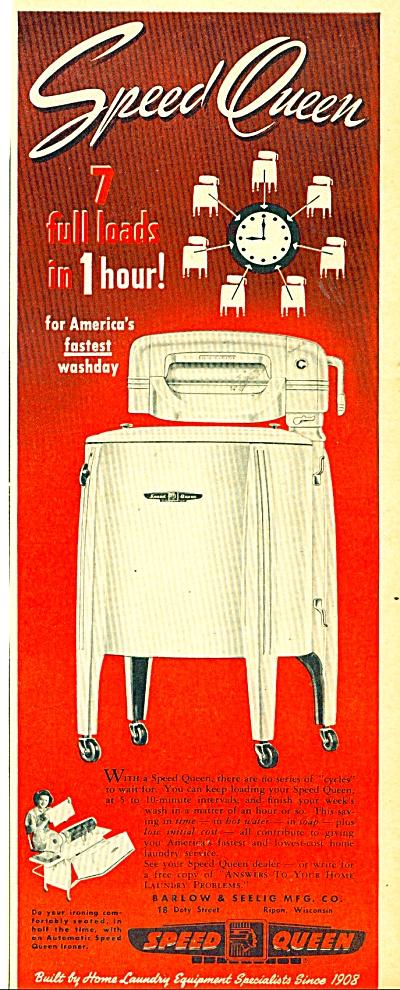 Speed Queen wash machine ad   1949 (Image1)