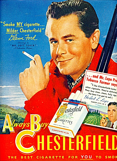 Chesterfield cigarettes (Glenn ford) ad (Image1)