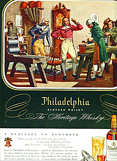 Philadelphia blended whisky ad FRANK REILLY (Image1)