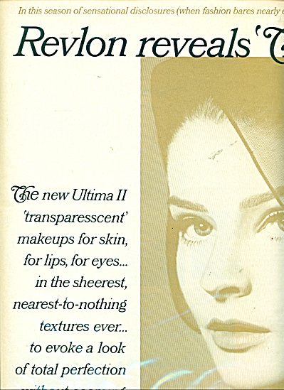 1960's Revlon - The Sheerness Of You Ad