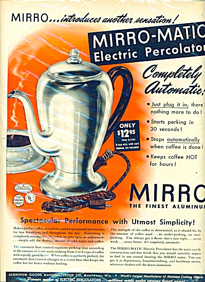 Mirro, the finest aluminum ad - 1949 (Image1)