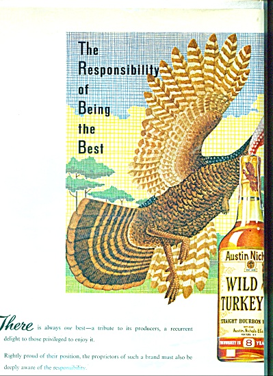 Austin Nichols Wild Turkey Bourbon Whiskey Ad