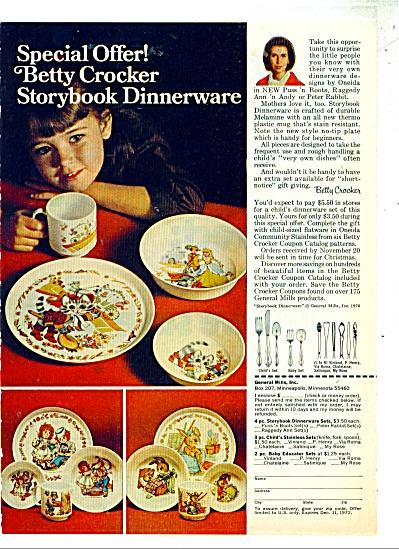 1972 Better Crocker Storybook Kids Melmac Promo AD  (Image1)