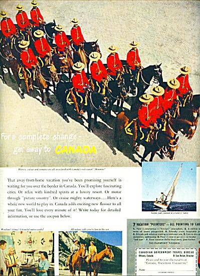Canadian Government travel bureau ad - 1949 (Image1)