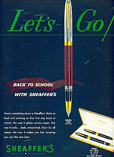 Sheaffer's Pens Ad - 1950