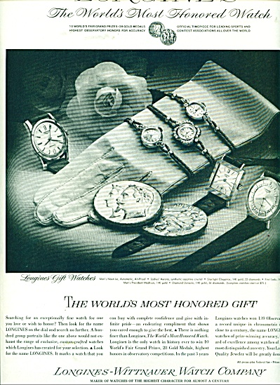 Longines-wittnauer Watch Company Ad