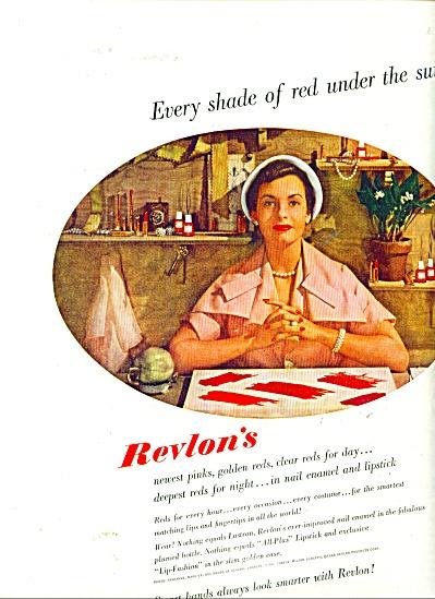 1949 REVLON Nail Enamel - LIPSTICK AD (Image1)