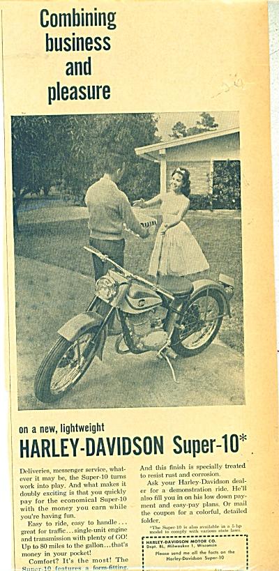 Harley Davidson Super 10 ad -  1960 (Image1)