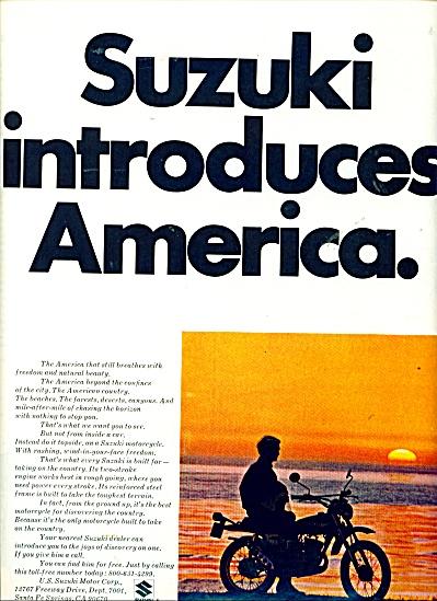 Suzuki introduces America ad - 1971 (Image1)