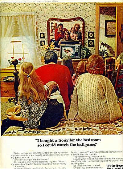 Trinitron Sony Color TV ad  - 1971 (Image1)