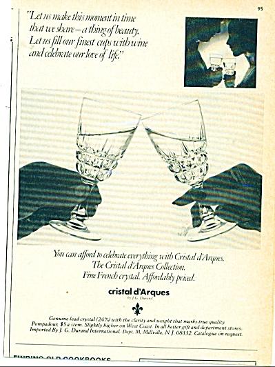 Cristal d'Arques crystal ad   1977 (Image1)