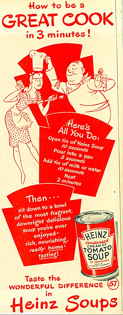 Heinz cream of Tomato soup ad - 1948 (Image1)