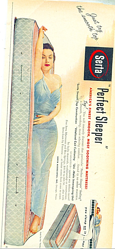 Serta perfect sleeper mattress ad - 1951 (Image1)