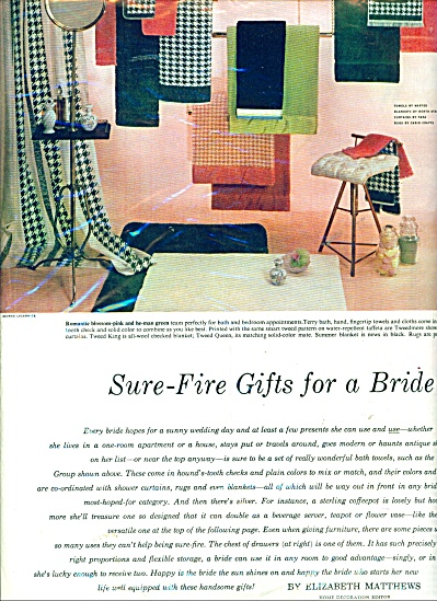 Sure fire gifts for a bride ad - 1953 (Image1)