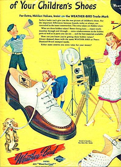 Weather bird shoes ad - (Image1)