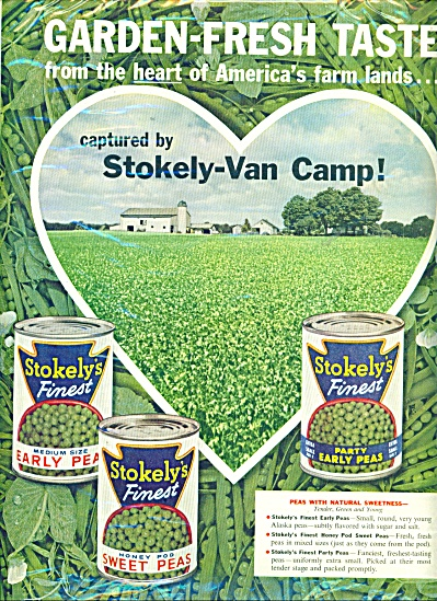 Stokely's finest peas ad (Image1)