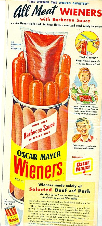 Oscar Mayer Wieners ad - 1948 (Image1)