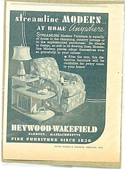 Heywood-Wakefield furniture ad - 1945 (Image1)