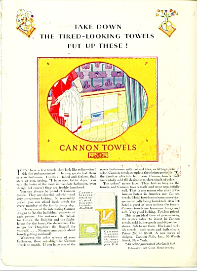 Take down the tired looking towels ad   1928 (Image1)