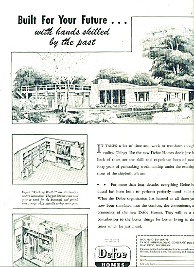 DeFoe Homes ad - 1946 (Image1)