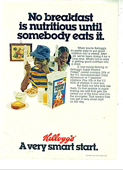 Kellogg's Frosted Flakes Ad - 1978