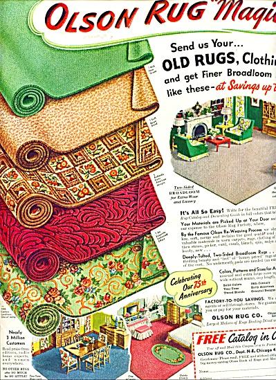 Olson Rug Magic ad  1949 (Image1)