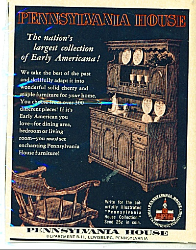Pennsylvania House ad - 1961 (Image1)